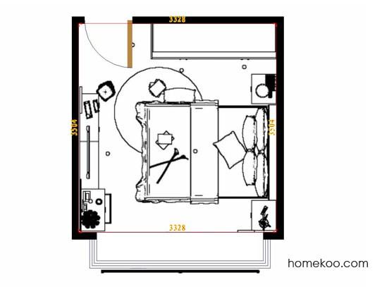 平面布置图柏俪兹系列卧房A14555