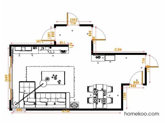 平面布置图格瑞丝系列客餐厅G14648