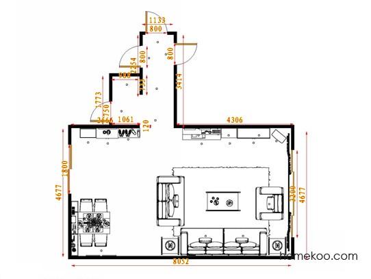 平面布置图斯玛特系列客餐厅G14654