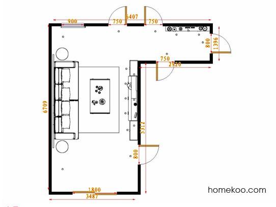 平面布置图德丽卡系列客餐厅G14680