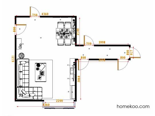 平面布置图斯玛特系列客餐厅G14681