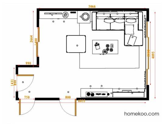 平面布置图斯玛特系列客餐厅G14682