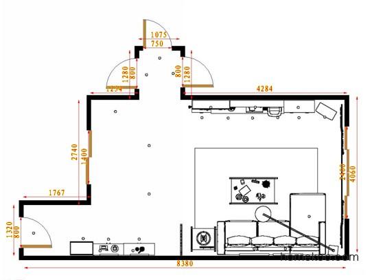 平面布置图柏俪兹系列客餐厅G14686