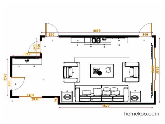 平面布置图格瑞丝系列客餐厅G14687