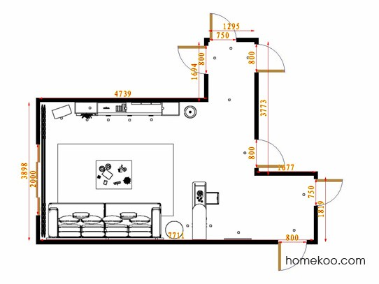 平面布置图贝斯特系列客餐厅G14695