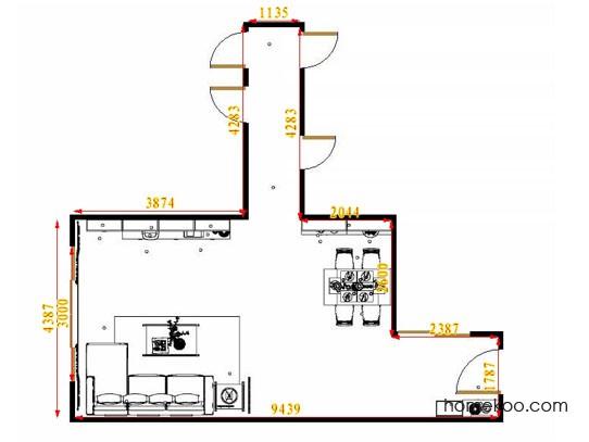 平面布置图斯玛特系列客餐厅G14698