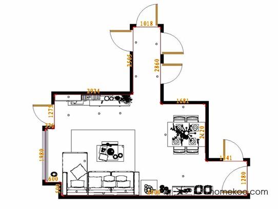 平面布置图德丽卡系列客餐厅G14703
