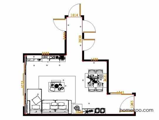 平面布置图乐维斯系列客餐厅G14704