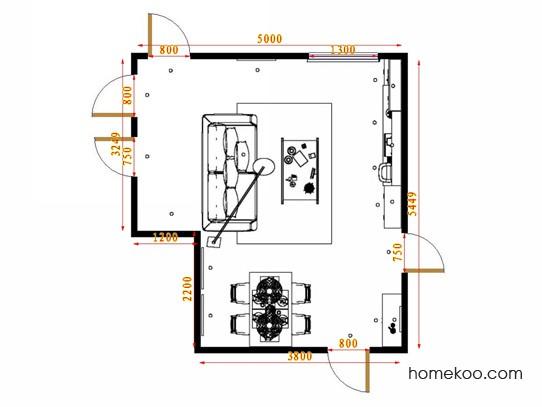 平面布置图斯玛特系列客餐厅G14714