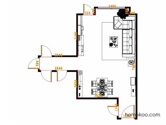 平面布置图柏俪兹系列客餐厅G14769