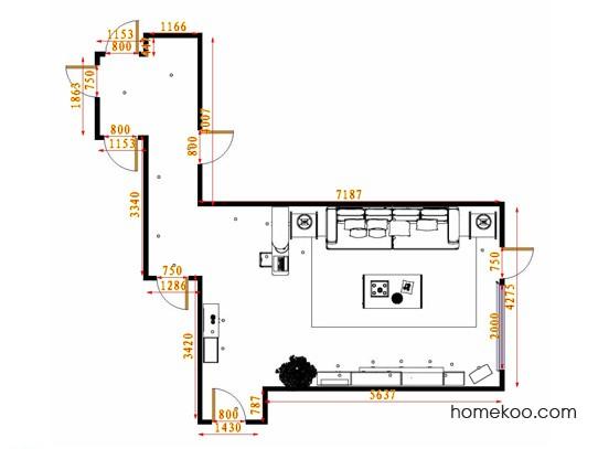 平面布置图斯玛特系列客餐厅G14778
