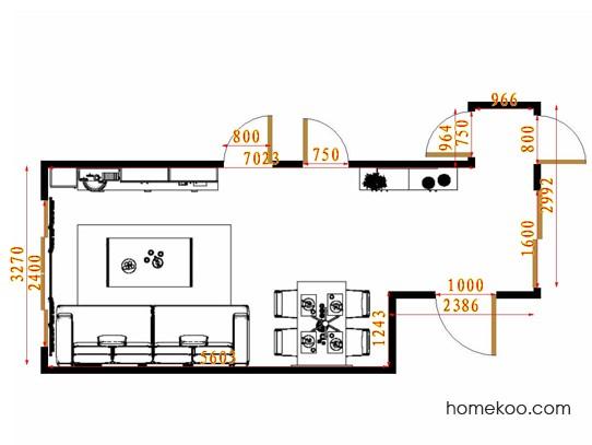 平面布置图贝斯特系列客餐厅G14799