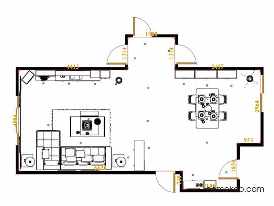 平面布置图乐维斯系列客餐厅G14836