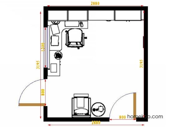 平面布置图斯玛特系列书房C14766