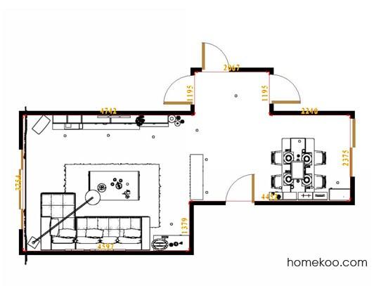 平面布置图德丽卡系列客餐厅G14943