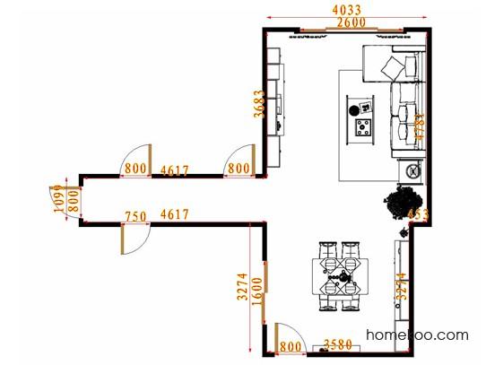 平面布置图格瑞丝系列客餐厅G14962