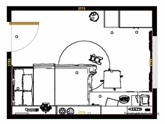 平面布置图斯玛特系列青少年房B12659