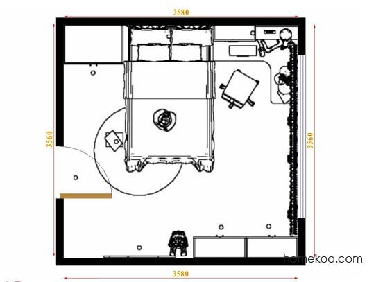 平面布置图斯玛特系列青少年房B12661