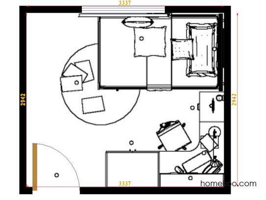 平面布置图乐维斯系列青少年房B12746