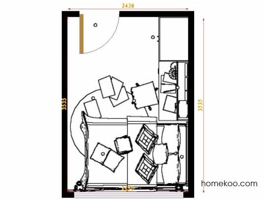 平面布置图斯玛特系列青少年房B12769