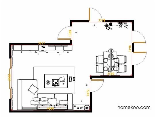 平面布置图德丽卡系列客餐厅G15066