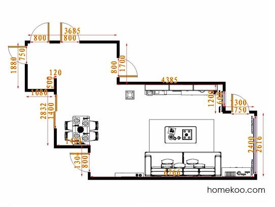 平面布置图乐维斯系列客餐厅G15094