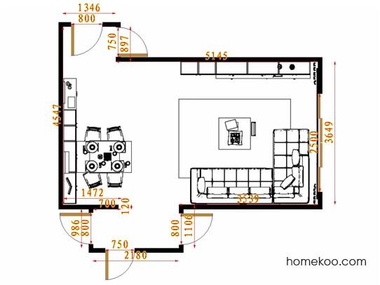 平面布置图斯玛特系列客餐厅G15124