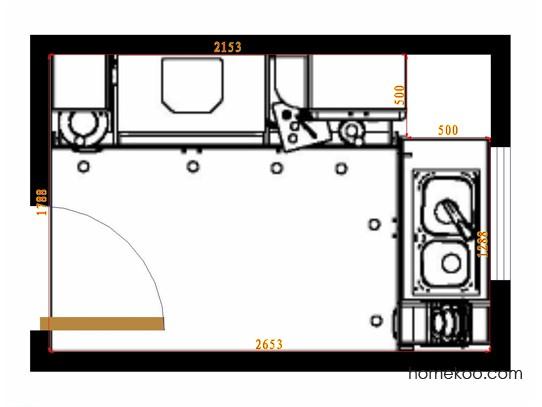 平面布置图贝斯特系列厨房F14135