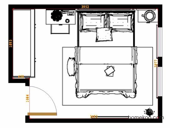 平面布置图贝斯特系列卧房A15142