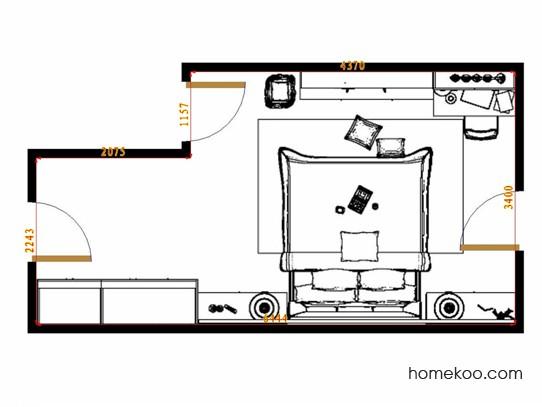 平面布置图贝斯特系列卧房A15152