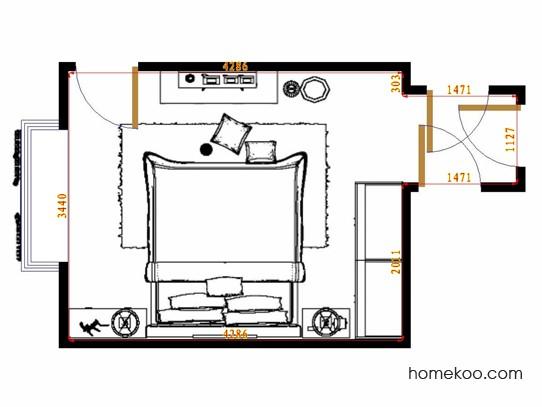 平面布置图斯玛特系列卧房A15163