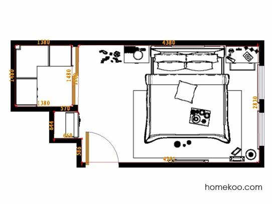 平面布置图格瑞丝系列卧房A15240
