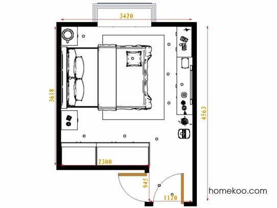 平面布置图斯玛特系列卧房A15278