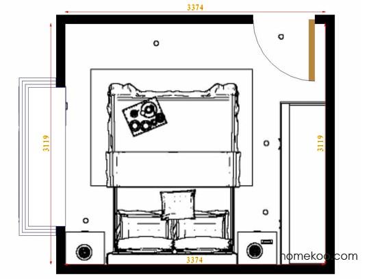 平面布置图斯玛特系列卧房A15284