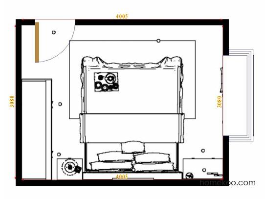 平面布置图乐维斯系列卧房A15285