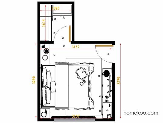 平面布置图德丽卡系列卧房A15287