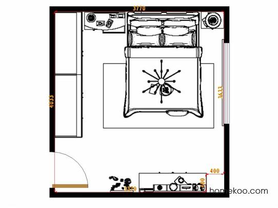 平面布置图贝斯特系列卧房A15290
