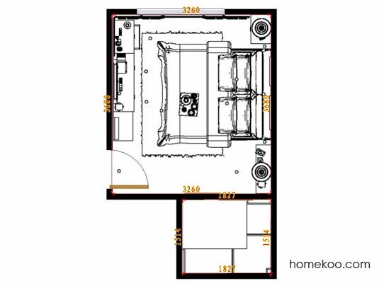 平面布置图贝斯特系列卧房A15312