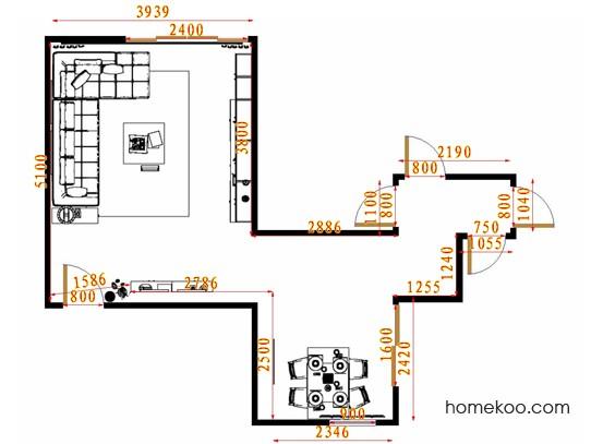 平面布置图柏俪兹系列客餐厅G15331
