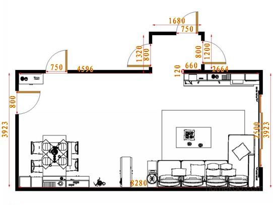 平面布置图格瑞丝系列客餐厅G15367
