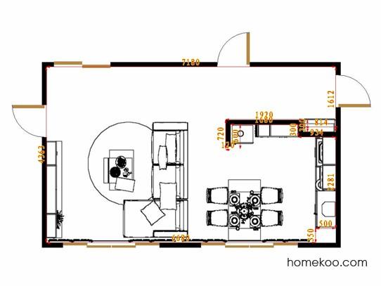平面布置图乐维斯系列客餐厅G15378