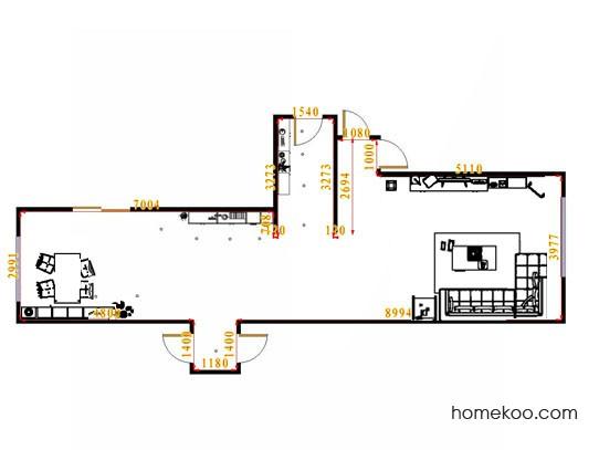 平面布置图贝斯特系列客餐厅G15408