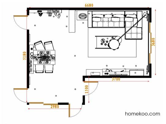 平面布置图柏俪兹系列客餐厅G15417