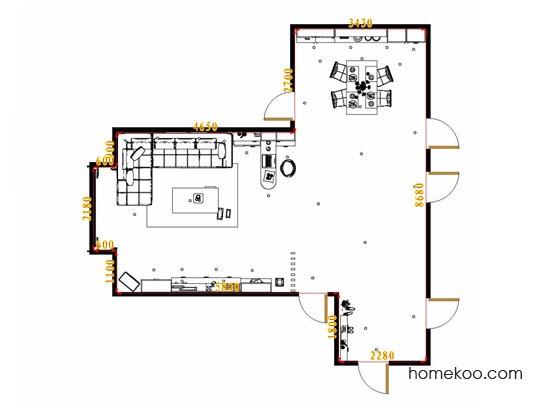 平面布置图德丽卡系列客餐厅G15464