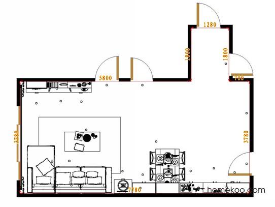 平面布置图柏俪兹系列客餐厅G15476