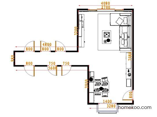 平面布置图斯玛特系列客餐厅G15515