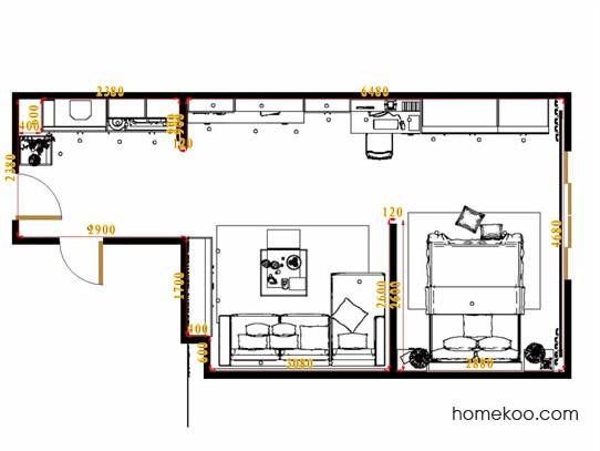 平面布置图柏俪兹系列单身公寓0003