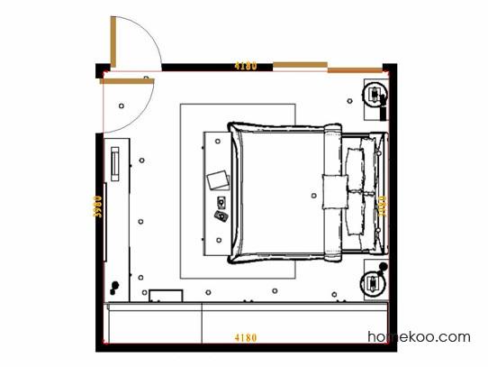 平面布置图乐维斯系列卧房A16047