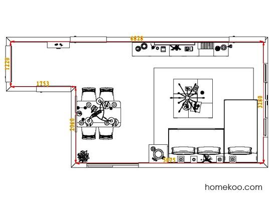 平面布置图德丽卡系列客餐厅G6682