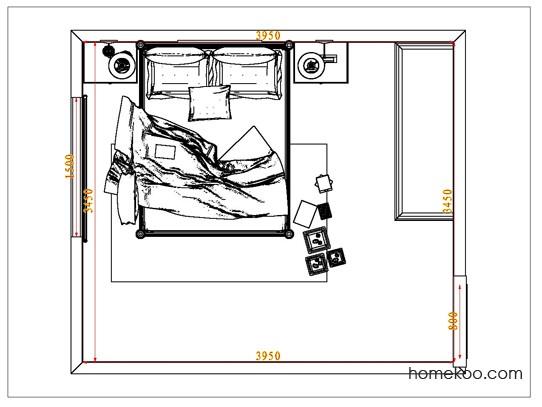 平面布置图乐维斯系列卧房A6784